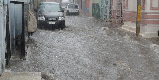 Flood in the heaven of India