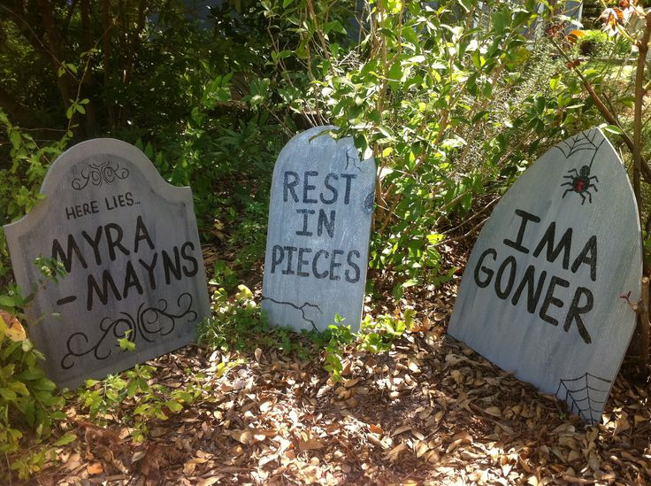halloween tombstone yard art decorations set of 6
