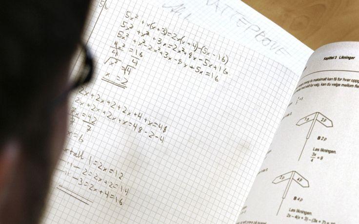 Elevene får ikke nok tid til å forstå det de lærer i matematikk, mener innsenderen. Ill. foto: Tom-Egil Jensen