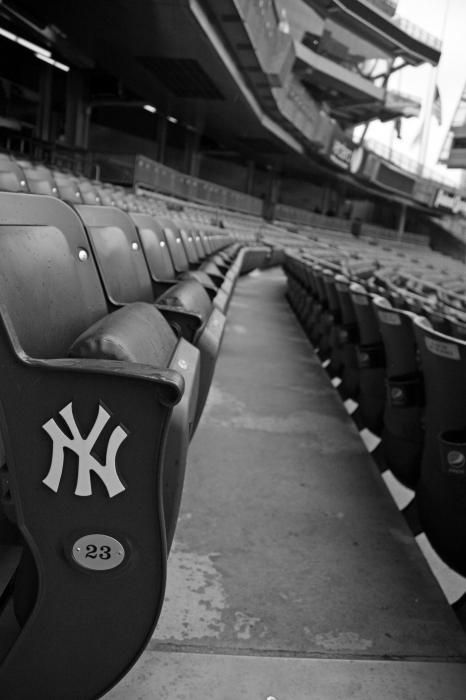 Yankee Stadium idk if these are old or new seats but I wanna sit in one of them :)