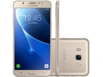 "Smartphone Samsung Galaxy J7 Metal 16GB Dourado - Dual Chip 4G Câm 13MP + Selfie 5MP Flash Tela 5,5"""