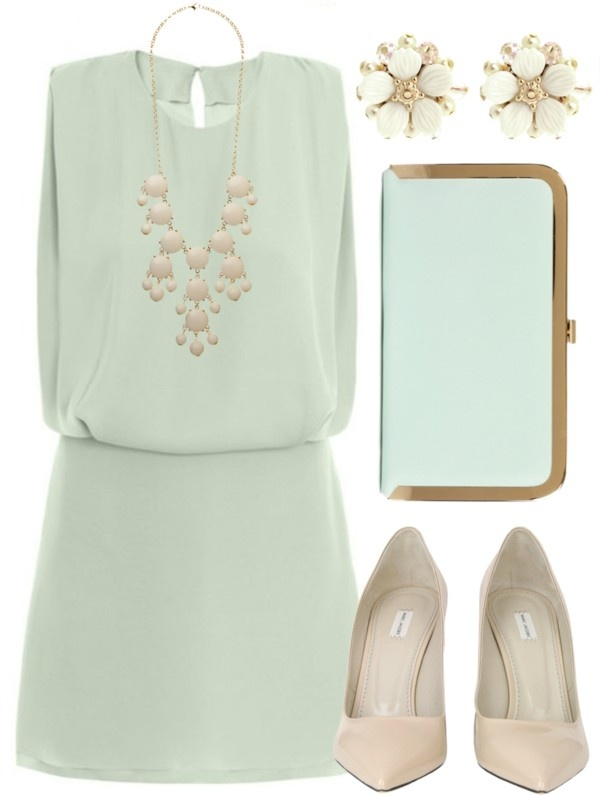 """""""Soft Sea Foam"""" complete outfit by qtpiekelso ❤ liked on Polyvore. Pastel mint and pink look so good together"""