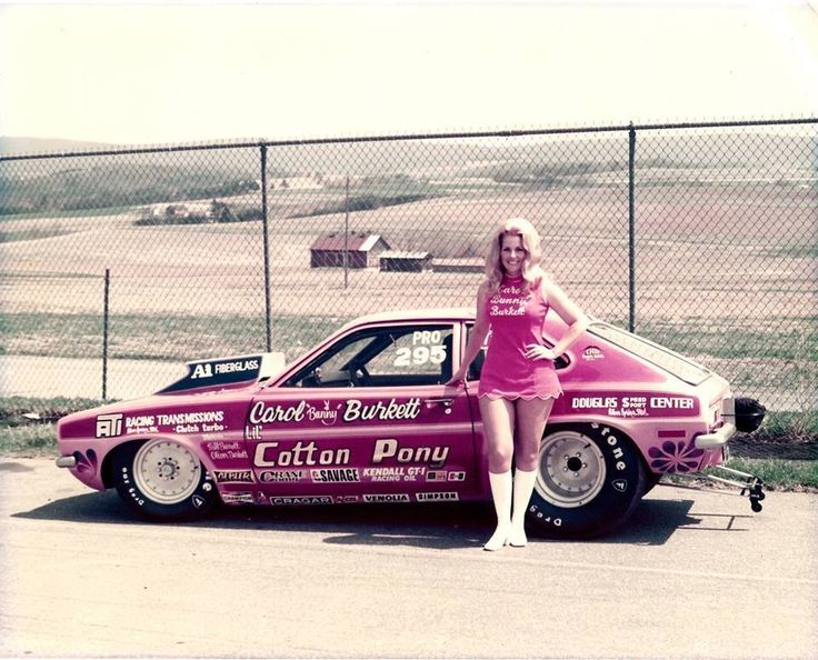 Vintage Drag Racing - Pro Stock - Bunny Burkett, a former Playboy Bunny who later drove alcohol Funny Cars [BB/FC].