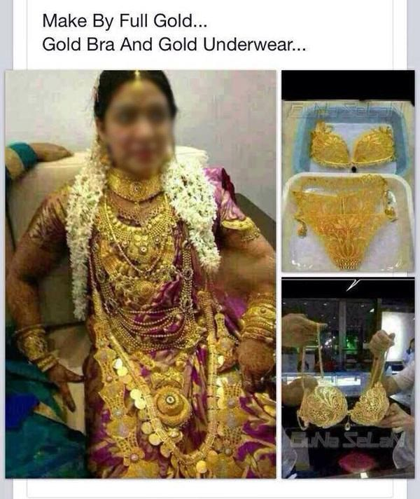 And Whoever Invested A Shit Ton Of Money To Give This Bride 24 Karat Wedgie Wedding FailIndian