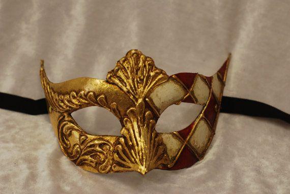 Maschera per bambini di Venezia Oro Bianco e di AtelierMaregaMask