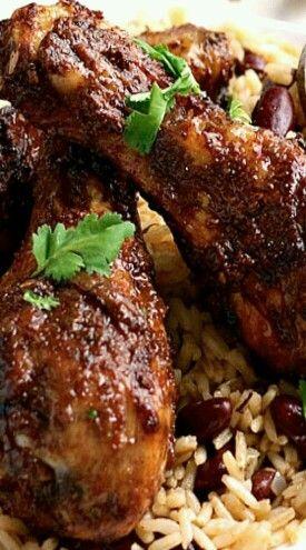 Best 25 jamaican chicken ideas on pinterest jerk chicken jamaican jerk chicken with carribean rice and peas recipe forumfinder Gallery