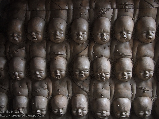 Wall of Babies at Giger Bar in Switzerland