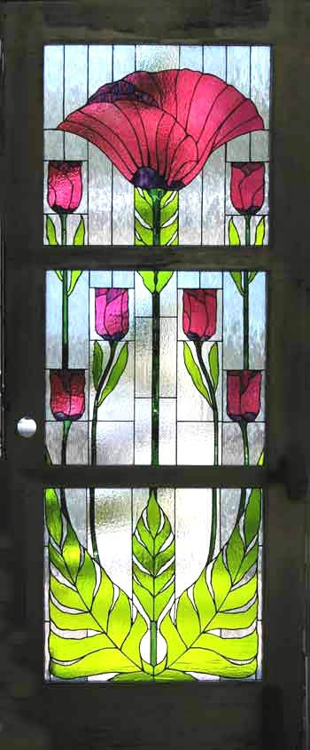 Beautiful stained glass door/Atmospheric Glass originals made by Tangerine. Mendocino, California