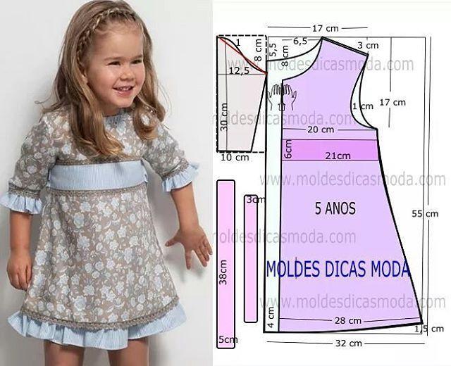 """82 Likes, 1 Comments - Fátima Carvalho Lopes (@moldes_dicas_moda) on Instagram: """"http://moldesdicasmoda.com/molde-vestido-com-fitas-29/ #moldes #moda #modacriança #modafeminina…"""""""
