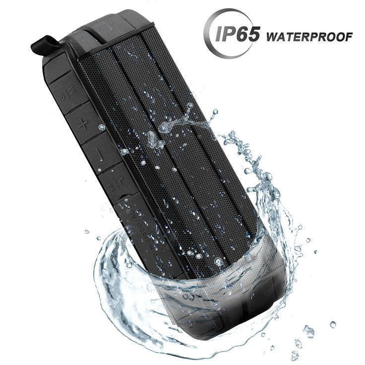 IP65 Waterproof Shockproof 10W Dual Unit Wireless Bluetooth V4.2 Speaker TF Card Handsfree with Mic