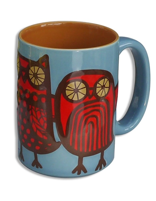 Kitsch'n Glam Minerva Owl Mug- Blue