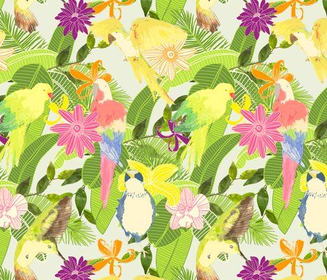 Rrtropical_shop_preview: Tropical Lydiameiy, Independence Design, Tropical Wallpapers, Custom Fabrics, Lydiameiy Spoonflowercom, Tropical Fabrics, Tropicana Parties, Custom Wallpapers, Inspiration Design