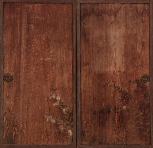 Chrysanthemums painted on a pair of wooden doors 1615-1868 Edo period Ink and color & 86 best Mingei images on Pinterest | Bamboo Clothes racks and Coat ...