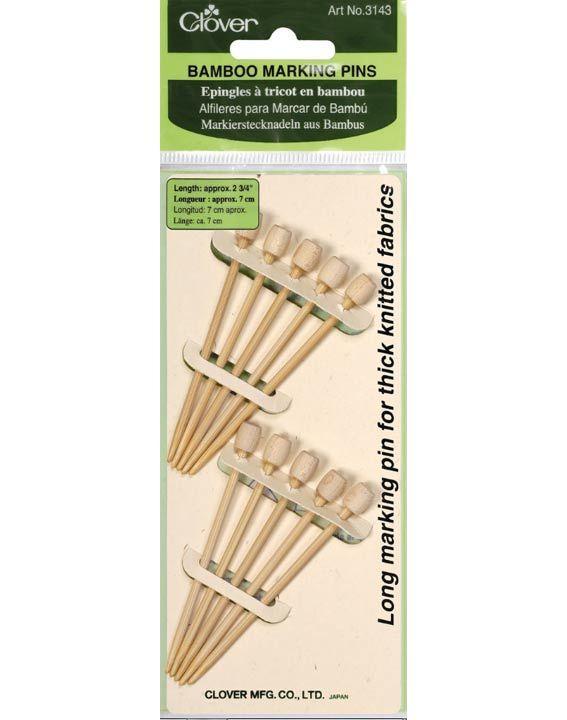 szpilki bambusowe - oczywiście Clover Pasmanteria toiowo.sklep.pl