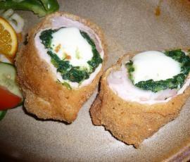 Recept Plněný řízek špenátem a mozzarellou od jessynka - Recept z kategorie Hlavní jídla - maso