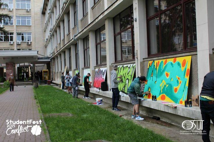 #graffiti #universitate #UVT #conflict #2015 #StudentFest