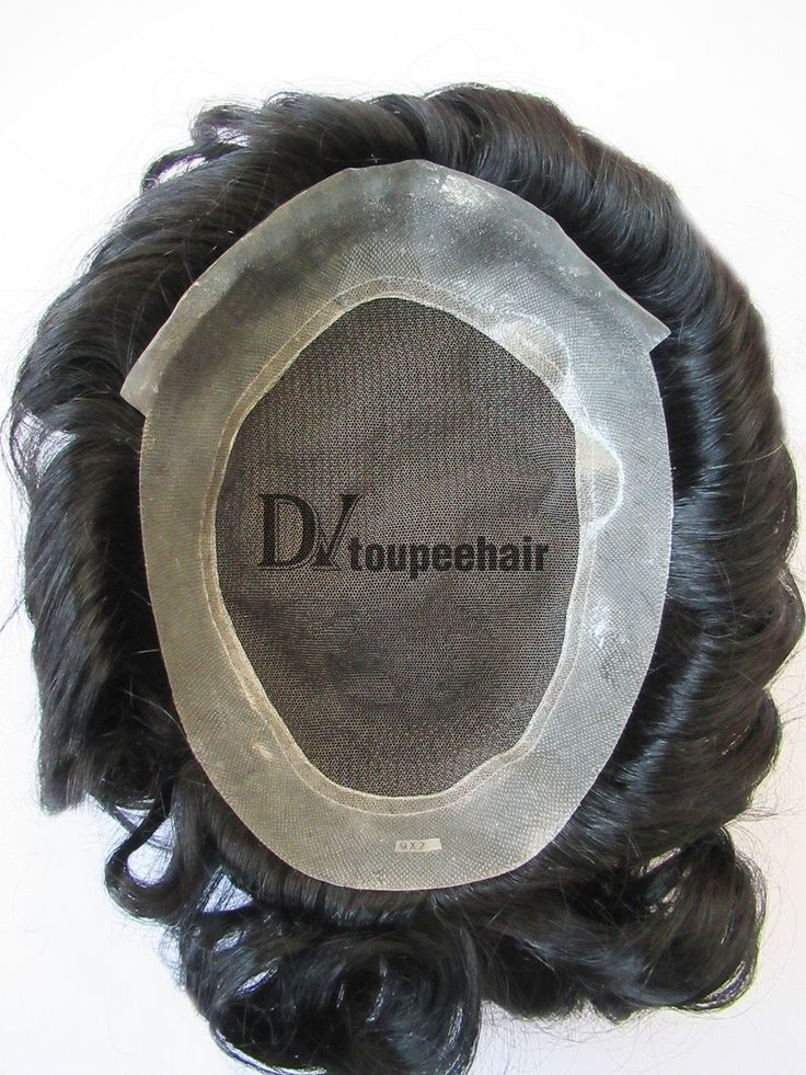DV-029 French Lace With Thin Transparent Poly All Around Perimte Men's Toupee