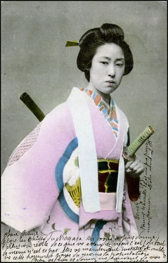Onna-bugeisha was a female warrior belonging to the Japanese nobility. Many women engaged in battle, commonly alongside Samurai men. They were members of the Bushi (Samurai) class in feudal Japan and were trained in the use of weapons to protect their household, family, and honour in times of war.