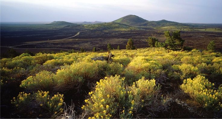 USA Idaho Craters of the Moon National Park, Idaho 618 square miles of magma. That is the size of the lava field at Craters of the Moon National Park in south-central Idaho. Large enough that it stretches as far as the