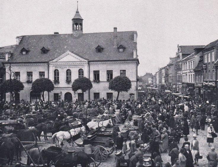 Osterode, Ostpr. Marktplatz um 1930.