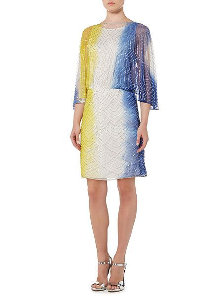 Beaded dip dye dress
