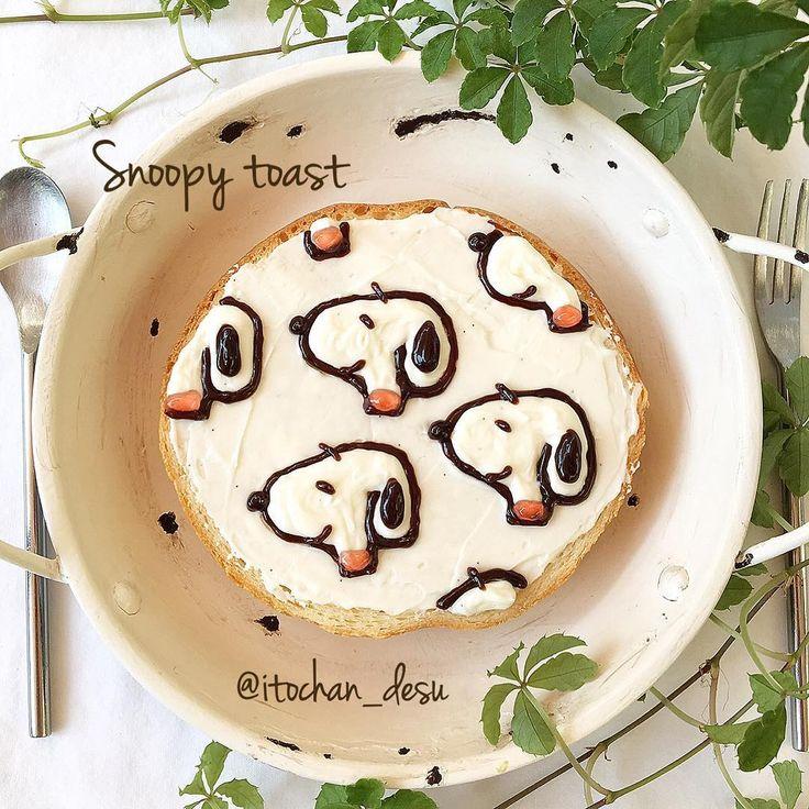 Snoopy toast art by (@itochan_desu)