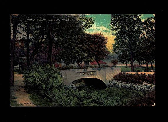 Texas, Dallas City Park IOLA Bridge C. 1908 #vintage #collectibles @EtsyMktgTool #iola #iolaportlandcement #portlandcement #cement #bridge