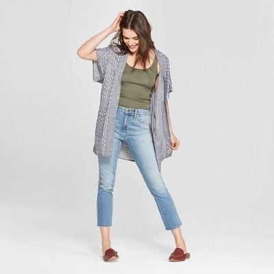 aef5db150d9e Women's High-Rise Kick Boot Crop Jeans - Universal Thread™ Light Wash 10
