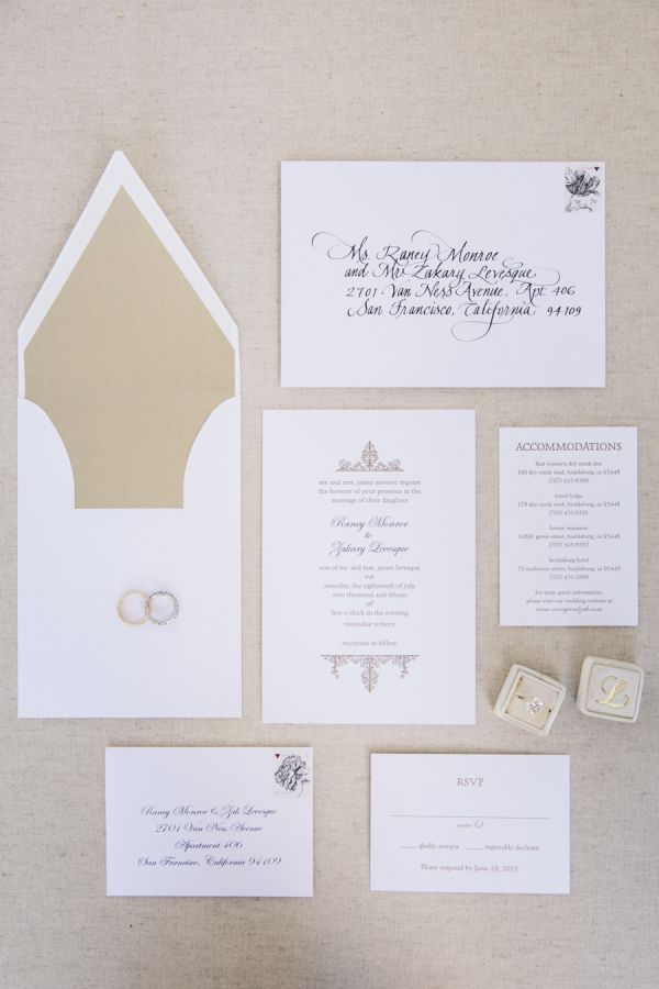wedding invitations east london south africa%0A Elegant rustic wedding invitation paper suite  http   www stylemepretty com