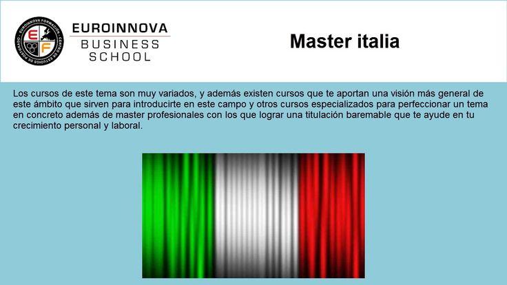 master italia - https://www.euroinnova.edu.es/master/italia