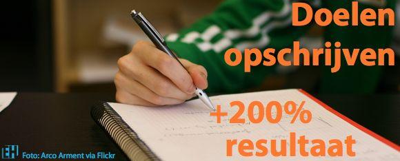 14 redenen voor opschrijven van jouw doelen voor 2015