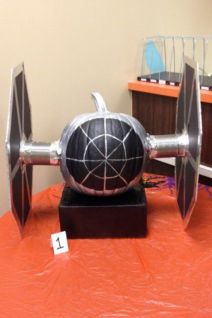 Harris Sisters GirlTalk: Pumpkin Decorating Party - No Carve Star Wars Tie Fighter