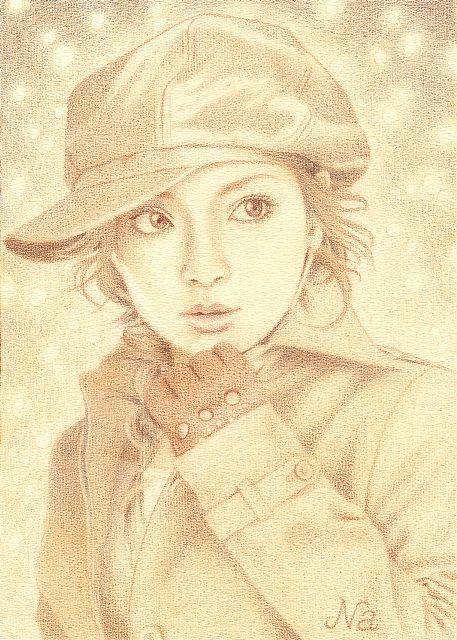 2001 Ayumi Hamasaki. color pencil by Naoko Aoyama