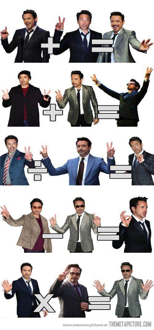 Robert Downey Jr. Teaches Us Math