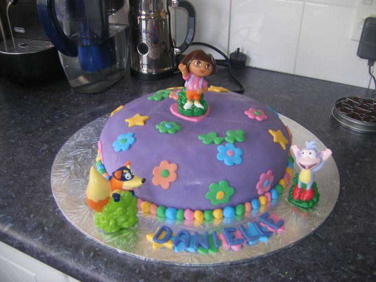 3 year old Dora Explorer cake 2010