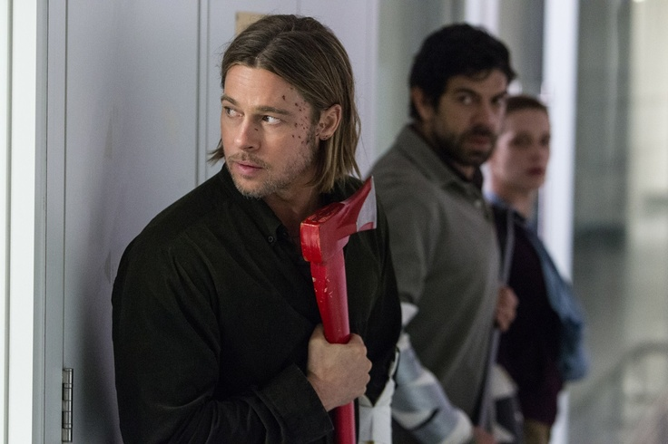 Brad Pitt, Daniella Kertesz y Pierfrancesco Favino