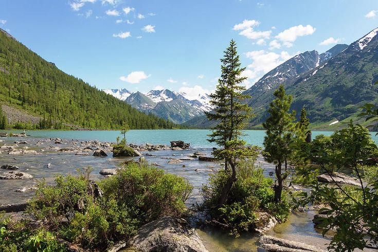 Middle Multinsky Lake, Altai Mountains by Victor Kovchin