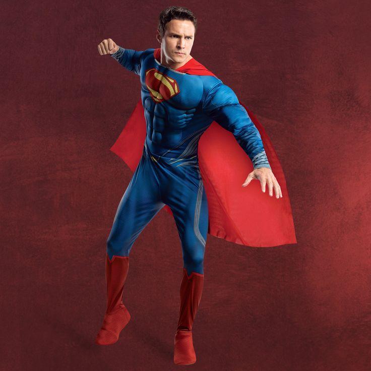 Superman - Kostüm mit Brustmuskulatur - Elbenwald