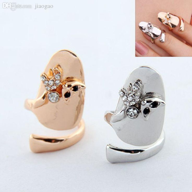 Wholesale New Arrivals From Korean Style Nail Art Gold Plated Crystal Fake Nails For Women Fashion Finger Ring Accessories Cf 014 Nail Decorations Wholesale Nail Supplies From Priscille, $19.08| Dhgate.Com