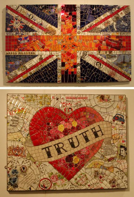 I heart mosaics and today my love and I found out where to buy them. No more collecting of pieces of broken tiles...