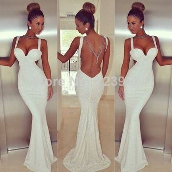 Aliexpress.com : Buy 2014 Sexy Backless Mermaid Evening Dresses ...