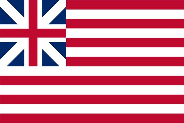 Grand Union Flag - The First Flag of the United States of America 1775-1783