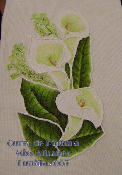 Pintar alcatraces en tela imagui for Pinturas para pintar