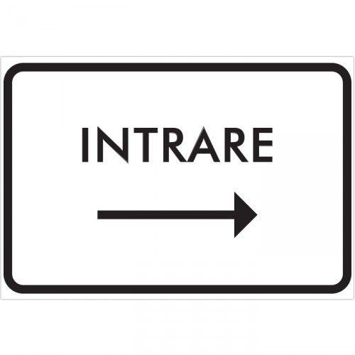 Indicator pentru Intrare catre dreapta Indicator pentru intrare cu sageata catre dreapta. Dimensiune 20 x 30 cm Pret: 8.9 lei