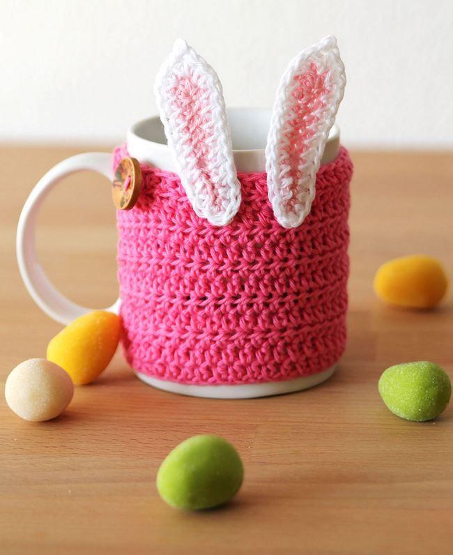 620 best easter spring rabbit egg ideas images on pinterest easter bunny mug cozy crochet pattern negle Gallery