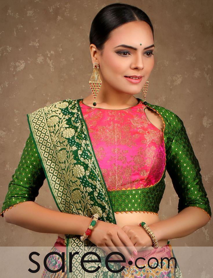 Multi Colored Ikkat Print Pleated Designer Lehenga with Bandhani Dupatta