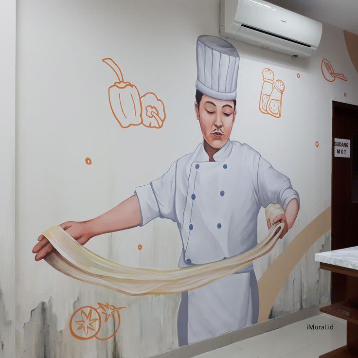 mural, jasa mural, mural kantor, jasa mural kantor, mural koki memasak, mural di kantor boga-Desain by iMural