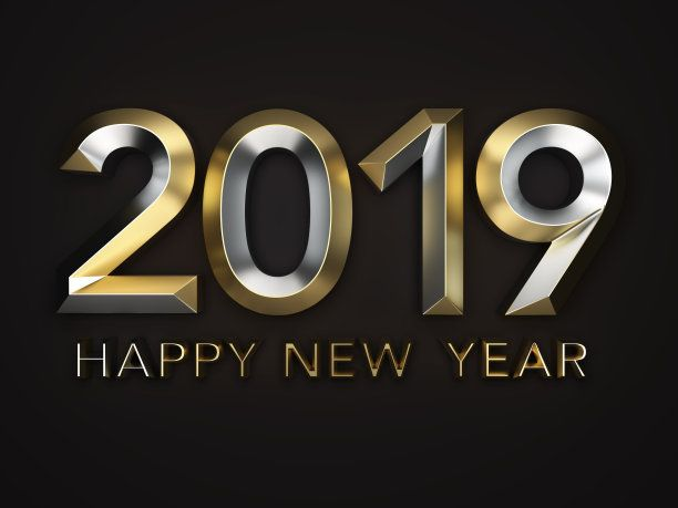 Happy New Year 2019 3d Black Bg Wallpaper Happy New Year Wallpaper New Year Wallpaper Happy New Year