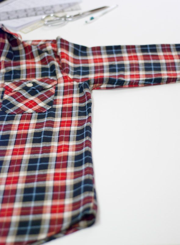 How to alter a men's shirt...salvage those big clothes he doesn't wear!