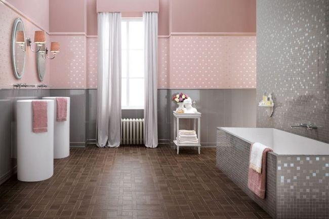 carrelage salle de bain gris et rose - Carrelage Salle De Bain Rose Et Gris